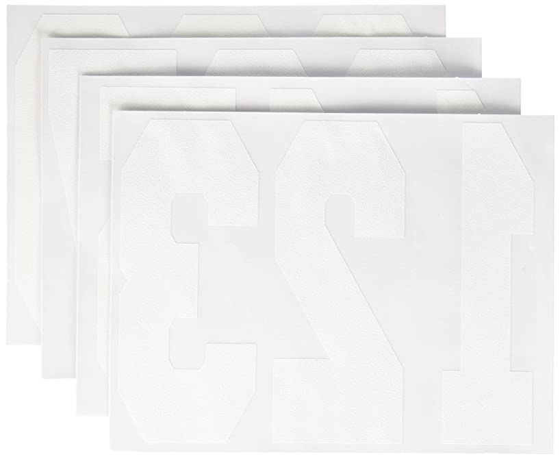 Dritz 15561 Iron-On Numbers, Soft Flock, Athletic, 8-Inch, White, 4 Sheets