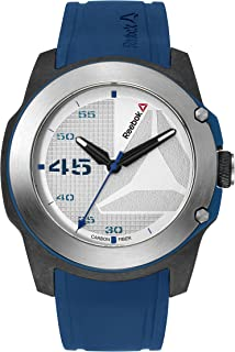 Reebok Men's Silver Dial Color Silicon Strap Watch - RD-HAY-G2-CBIN-1N
