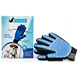 Pet Grooming Glove - Gentle Deshedding Brush Glove - Efficient Pet Hair Remover Mitt - Massage Tool with Enhanced Five Finger Design - Perfect for Dogs ...