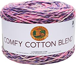 Lion Brand Yarn Comfy Cotton Blend Yarn, Soothing Lavend