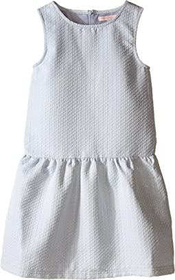Classic Perry Drop Waist Dress with Gold Lurex Stitch Detail (Toddler/Little Kids/Big Kids)