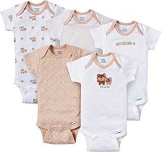 Gerber Baby-Boys Variety Onesies Brand Bodysuits, Adorable Bears, 0-3 Months (Pack of 5)