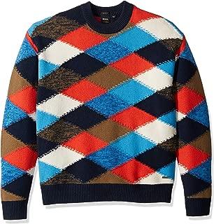 Men's Kargyl Oversized Multicolor Argyle Intarsia Sweater