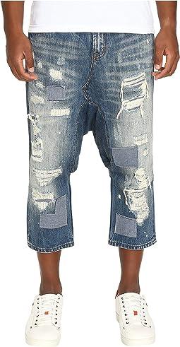 Distressed Enzo Drop-Crotch Jeans