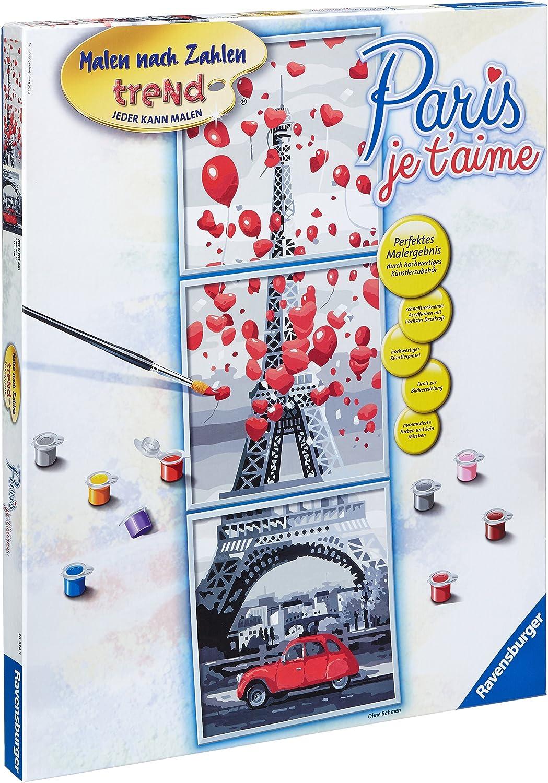 Ravensburger 28974 Paris, je t'aime Malen nach Zahlen Trend, 30 x 90 cm B00QIM33OO | Haltbarer Service