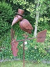Wippe Rabe mit Hut ArtFerro Gartenwippe Gartenstecker Garten Deko Metall
