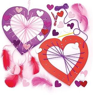Baker Ross Kits attrape-rêves cœur (lot de 4) - que les enfants pourront fabriquer, exposer ou offrir pour la fête des mèr...