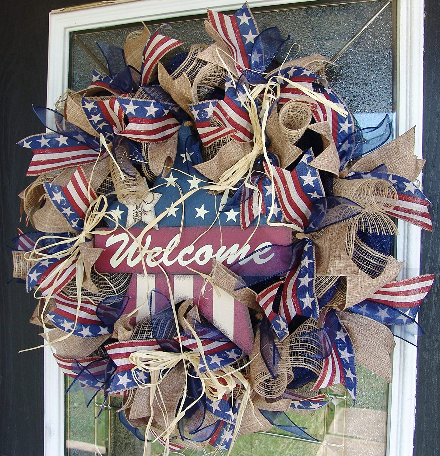 FAST SHIP Rustic Farmhouse Patriotic 4th Fourth Deco Ultra-Cheap Deals Mes of July Super sale period limited