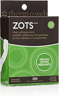 "Thermoweb Zots Clear Adhesive Dots, Medium 3/8"" x1/64 Thick 300/Pkg, Medium"