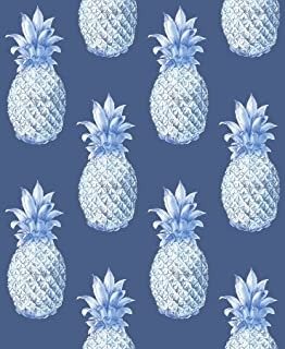 A-Street Prints 2744-24139 Copacabana Navy Pineapple Wallpaper,