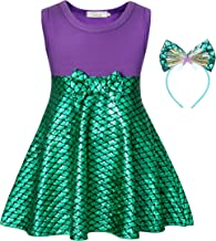 Cotrio Princess Costume Girls Sleeveless Dress Up Fancy Party Scale Dresses