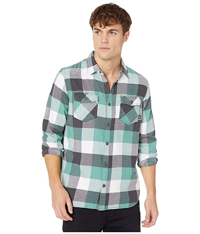 UPC 679894066777 product image for Vans Box Flannel Shirt (Oil Blue/White) Men's Clothing | upcitemdb.com