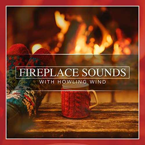 Fireplace Sounds with Howling Wind