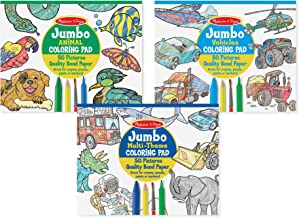 Melissa & Doug Jumbo 50-Page Kids' Coloring Pads Set - Animals, Vehicles, and More, Great Gift for Girls and Boys - Best for 3, 4, 5 Year Olds and Up