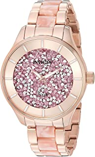 Invicta Women's Angel Quartz Watch with Stainless-Steel Strap, Two Tone, 18 (Model: 24663)
