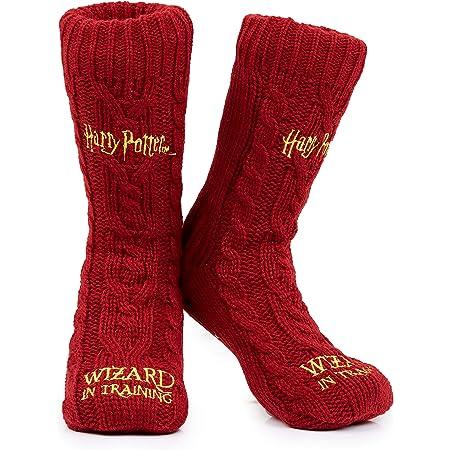 Harry Potter Slipper Socks, Women Knitted Fluffy Socks, Harry Potter Gifts
