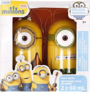 Minions Exclusive Berry Scented Mini Body Wash Collection - Cromin, Aunat - 4 x 60ml each
