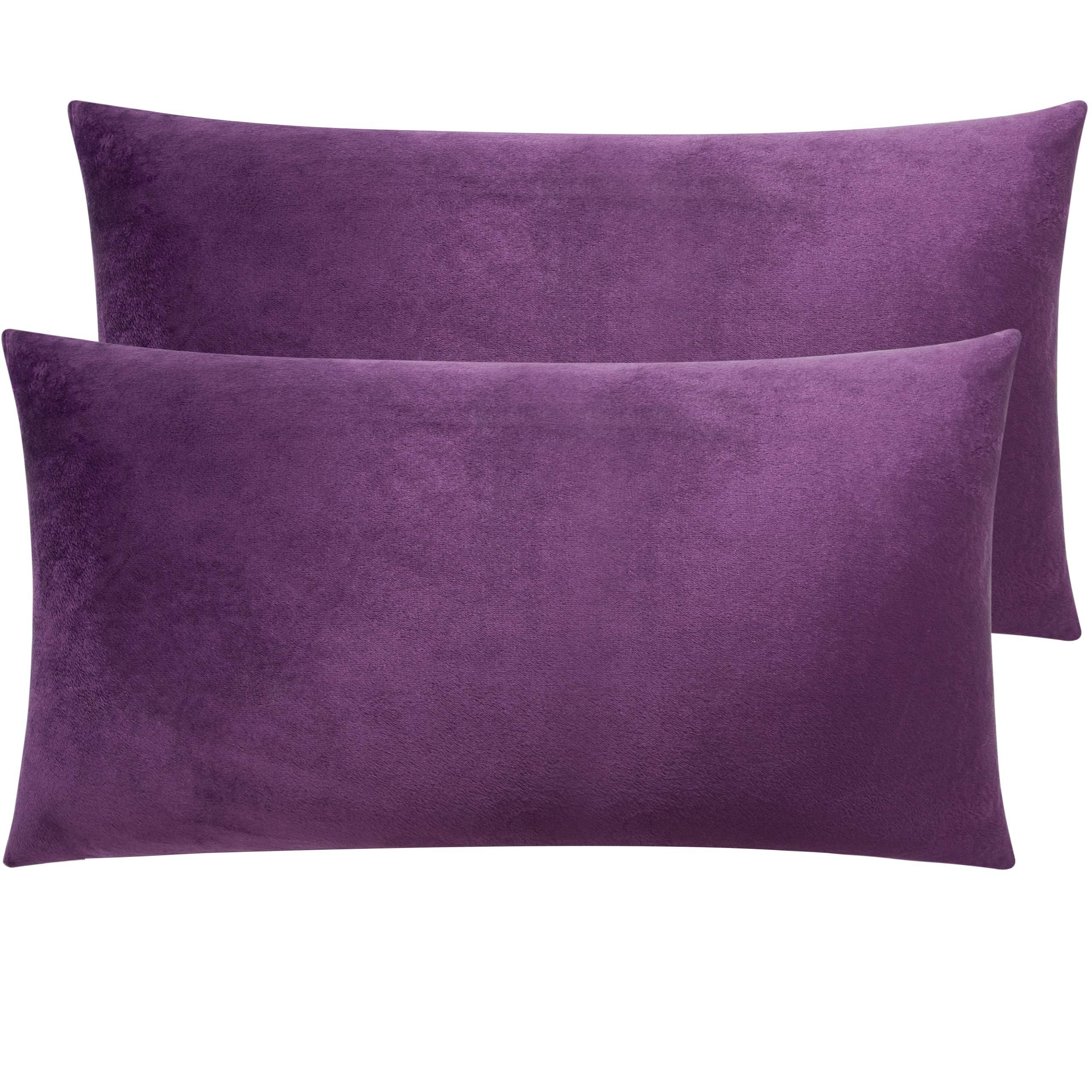 NTBAY Zippered Velvet King Pillowcases