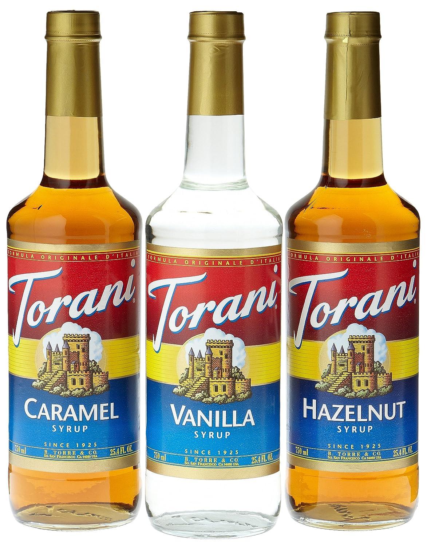 Torani Coffee El Paso Mall Syrup Variety Pack Hazelnut 3 - Caramel Many popular brands Vanilla