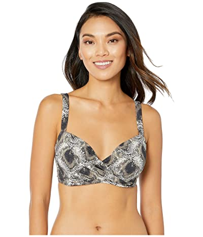 Bleu Rod Beattie Skin Games Over the Shoulder Underwire Top (Snake) Women