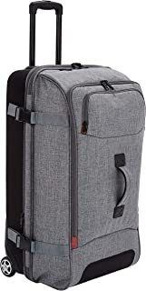 Best AmazonBasics Rolling Travel Duffel Bag Luggage with Wheels, Large, Grey Review