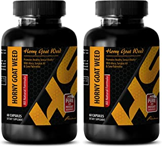 Sex Drive Pills - Horny Goat Weed (All Natural Formula) - Horny Goat Weed Herbal Complex - 2 Bottle 120 Capsules