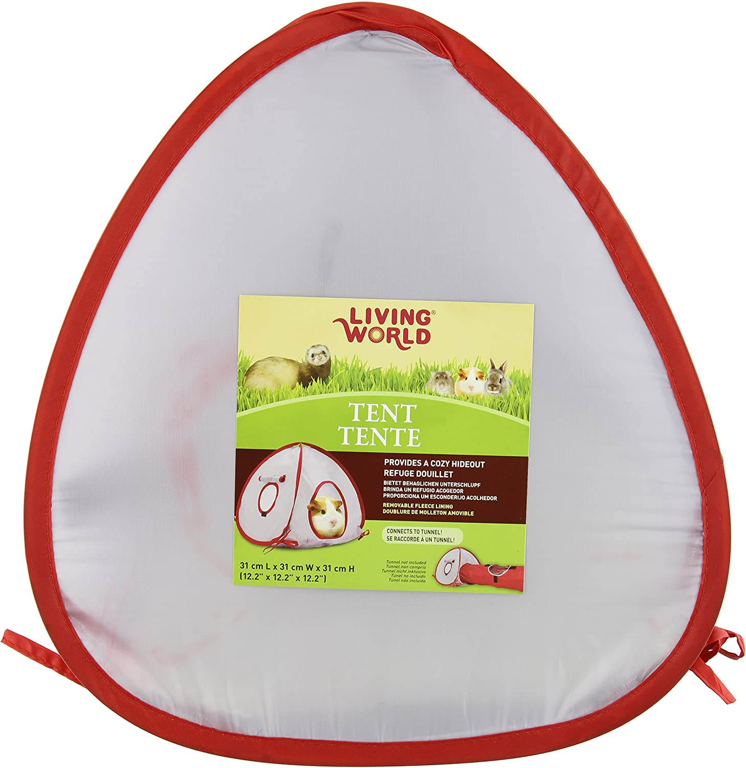 Living World Tent for Pets, Grey Red