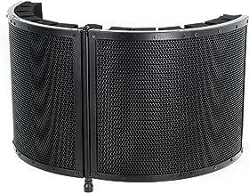 VIVO Black Universal Portable Mini Vocal Recording Booth Audio Isolation Noise Foam Sound Folding Panel Shield (VB-01)