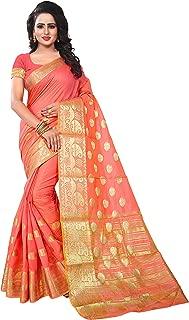 Ecolors Fab Women's Cotton Silk Saree, Free Size (Pink, Gokul_Saree)
