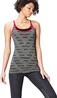 Activewear Double Layer Chevron Seamless Sports Vest