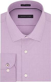 Men's Non Iron Slim Fit Micro Check Dress Shirt