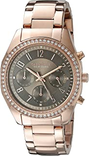 Caravelle New York Women's 44L195 Analog Display Quartz Rose Gold Watch