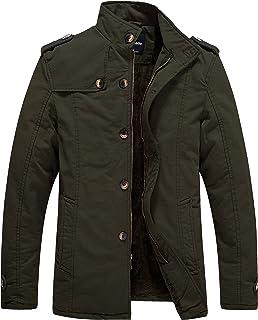Wantdo Men`s Winter Fleece Lined Jacket Cotton Outwear Coat