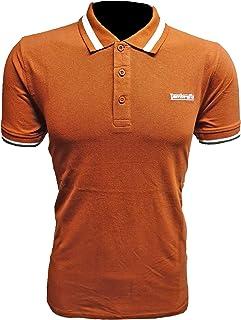Lambretta Mens Single Tipped Collar Cotton Polo Shirt - Arabian Spice - XL