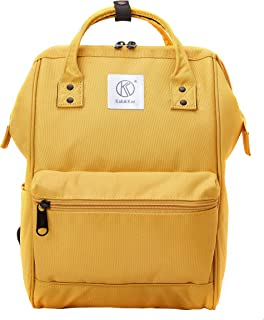 Polyester Travel Backpack Functional Anti-theft School Laptop for Women Men (Yellow, Small)