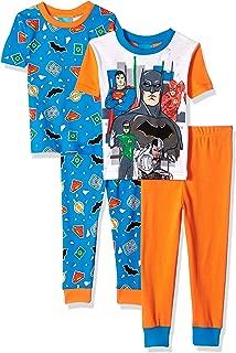 Boys' Big Justice League 4-pc Pj, Incl. 2 Sets, Long Sleeve & Pant