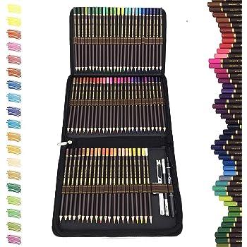 Castle-Art-Supplies-Set 72 Buntstifte mit leuchtenden Farben Set f/ür Malb/ücher f/ür Erwachsene oder Kinder aus der Soft-Serie