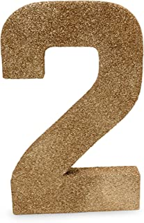 8 inch Rose Gold Glitter Number 2 Photo Prop for 2nd Second Birthday