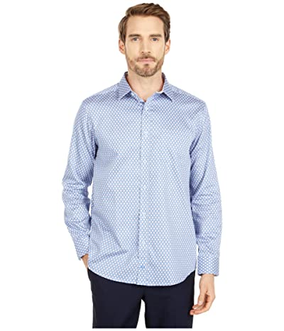 Johnston & Murphy Diamond Dot Print Shirt (Blue/Red) Men