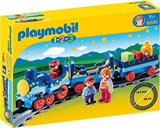 Playmobil 6880 1.2.3 带轨道的夜间火车