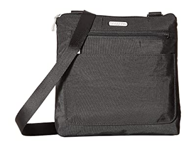 Baggallini Legacy Peekaboo Crossbody (Black/Charcoal Cheetah) Cross Body Handbags