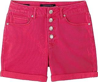 CALVIN KLEIN Girls' Color Roll-up Denim Short