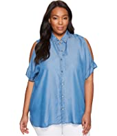 MICHAEL Michael Kors - Plus Size Tencel Cold Shoulder Top