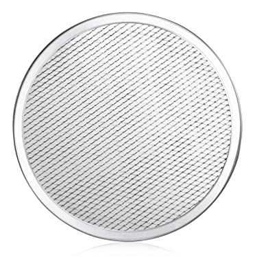 New Star Foodservice 50943 Seamless Aluminum Pizza Screen, Commercial Grade, 10-Inch, Pack of 6