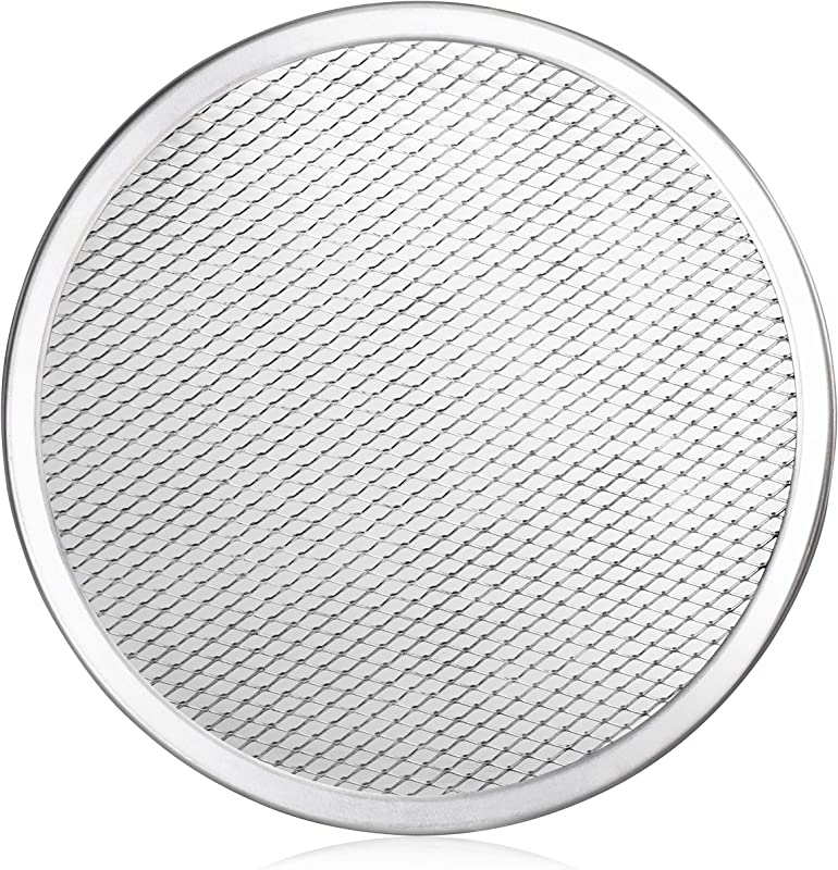 New Star Foodservice 50943 Seamless Aluminum Pizza Screen Commercial Grade 10 Inch Pack Of 6