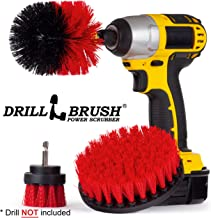 Outdoor - Cleaning Supplies - Horse - Ranch - Farm - Barn - Drill Brush - Stiff Bristle Scrubber Kit for - Rubber Mat - Water Trough - Fountain - Feed Buckets -Concrete - Stone - Brick - Spin Brush