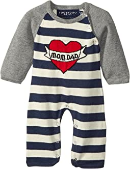 Toobydoo - ToobyTattoo Heart Knit Jumpsuit (Infant)