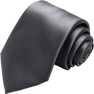 Solid Satin Tie Pure Color Necktie Mens Ties + Gift Box