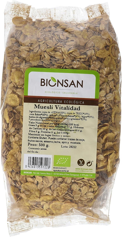 Bionsan Muesli Ecológico - 6 Bolsa de 500 gr - Total: 3000 gr