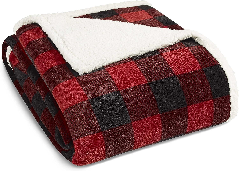 Eddie Bauer Mountain Plaid Blanket Twin Red